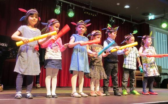 Elementares Musizieren im Schlusskonzert 2014